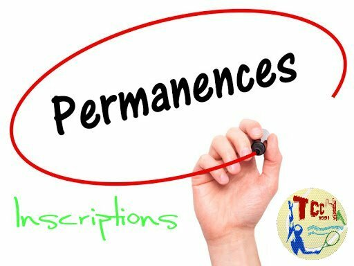 Permanences Inscriptions